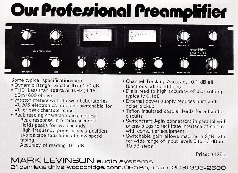 Предусилитель Mark Levinson LNP-2