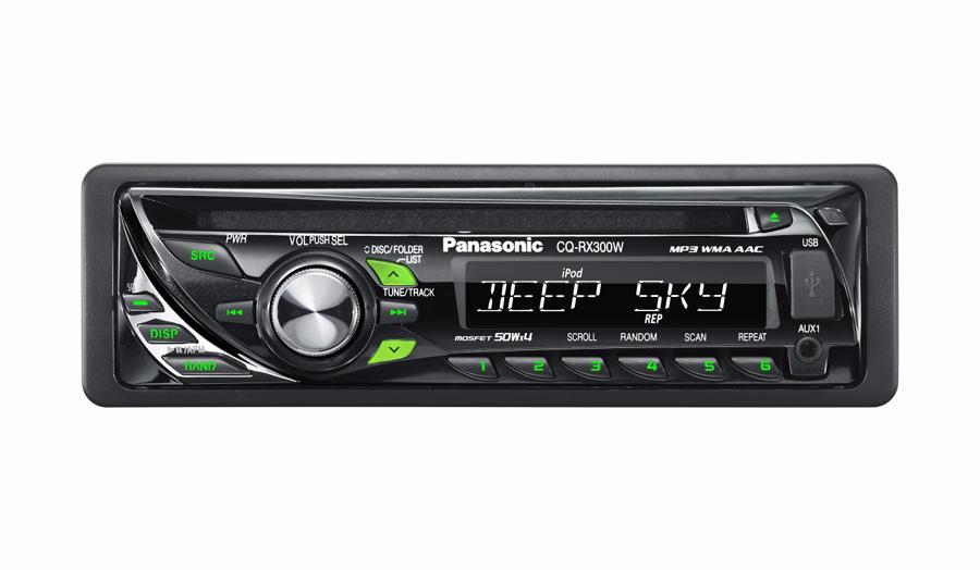 Panasonic CQ- RX300W - абсолютно новая модель в линейке автомобильных CD-ресиверов знаменитой японской корпорации...